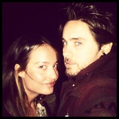 jaredleto #ThrowbackThursday: Me + my friend Chloe #TBT See more at NOTES FROM THE OUTERNET - JaredLeto.com
