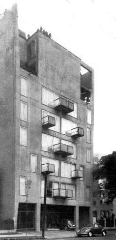Condominio, Río Guadalquivir 92, Cuauhtémoc, México, DF 1967 Arqs. Ramón Torres Martínez, Héctor Velázquez Moreno y Sergio Torres Martínez - Condominium, Rio Guadalquivir 92, Cuauhtemoc, Mexico City 1967