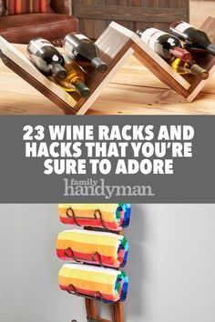 These DIY wine racks are sure to satisfy. Rental Kitchen Makeover, Family World, Buying A New Home, Wine Fridge, Italian Wine, Wine Storage, Wine Cellar, Home Projects, Diy And Crafts