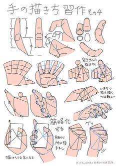 手の描き方 | KITAJIMAのお絵かき研究所                                                       …