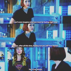 """""""After all this time, finding out you still have family"""" - Alex and Kara #Supergirl"""