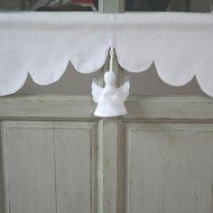 Cantonnière Ange Blanc 45cm Décoration de Charme