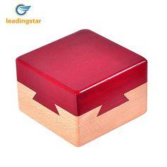 LeadingStar Wooden Secret Box Creative Gift Box for Hidden Diamond Jewelry Cash Surprise for Companions Lovers Friends zk35