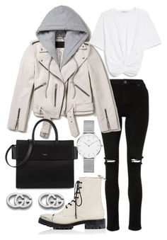 """""""Untitled #21898"""" by florencia95 ❤ liked on Polyvore featuring AllSaints, Givenchy, Alexander Wang, Gucci and Daniel Wellington"""