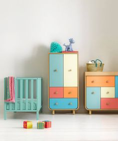 Making a statement with this modern bright coloured wooden nursery furniture collection by Mothercare. Roomset photography with a simple set build featuring our favourite white floorboards. Nursery Furniture Sets, Small Bedroom Furniture, Bed Furniture, Baby Bedroom, Kids Bedroom, White Floorboards, Nursery Furniture Collections, Maternity Shops, United Kingdom