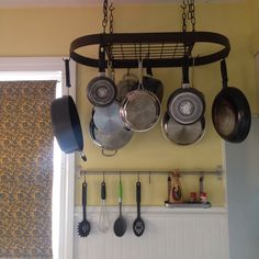 Custom Oval Hanging Pot Rack with Grid
