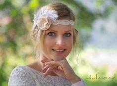 """Brautkranz, Haarband, Blumenkranz """"Träume III"""" von Julmond auf DaWanda.com"""
