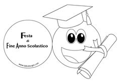 festa-fine-anno-scuola Digi Stamps, Crafts For Kids, Graduation, Cartoon, Fictional Characters, Prom Party, Preschool, Drawings, Students