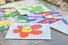 Tolomei Tidbits: Kids and Paint - 6th birthday party idea for Kate - little artists & ice cream :)