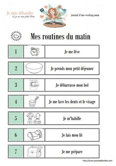 FREE Routine before and after school. After School Routine, School Routines, Study French, Learn French, Autism Education, French Lessons, Teaching French, Budgeting Finances, Kids And Parenting
