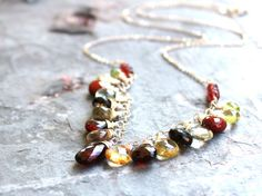 Hey, I found this really awesome Etsy listing at https://www.etsy.com/listing/181341518/gemstone-statement-necklace-garnet-multi
