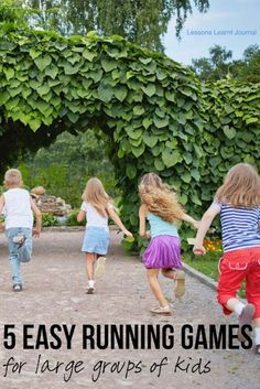 Healthy Kids 5 Running Games for Kids via Lessons Learnt Journal
