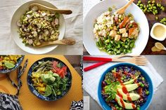 7 Simple Buddha Bowls (vegetable based with delicious sauces)