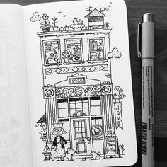 Dave Garbot — Downtown Coffee #illustration #drawing #penandink...