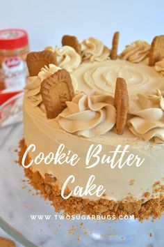 Cookie Butter Cake ~ tender, moist and full of lovely cookie butter flavor! - - Cookie Butter Cake ~ tender, moist and full of lovely cookie butter flavor! Baking Cookie Butter Cake ~ tender, moist and full of lovely cookie butter flavor! Biscoff Cookie Butter, Butter Cookies Recipe, Biscoff Cookies, Biscoff Cake, Milk Cookies, Homemade Cookie Butter, Just Desserts, Delicious Desserts, Dessert Recipes