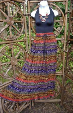 Southwestern style broomstick skirt beautiful by LamplightGifts, $22.75