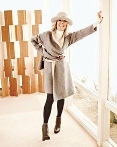 @Vonda Gates diane-keaton - she wears lots of neutrals...black, beige, whites, browns