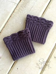 Make these cute boot toppers with Vanna's Choice! Multiple sizes available, makes a great gift - find the pattern on Ravelry.