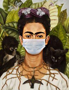 Frida Art, Colani, Working Drawing, Famous Artwork, Animal Masks, Masks Art, Art Classroom, Famous Artists, Aesthetic Art