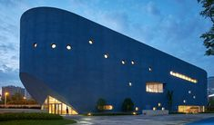 Open Architecture has combined a theatre and library within a building that resembles a blue whale at a school in Shanghai, Open Architecture, Chinese Architecture, Cultural Architecture, Steven Holl, Kengo Kuma, Architectural Section, Small Buildings, Arquitetura