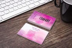 Pink/Purple WaterColor Business Card - Home Office Approved Branding Guide Fonts/Colors - Bundles Available - MulaCash A & D Leggings Card Watercolor Mermaid, Floral Watercolor, Elegant Business Cards, Business Card Design, Lularoe Business Cards, Lipsense Business Cards, Ice Cream Business, Watercolor Business Cards, Referral Cards