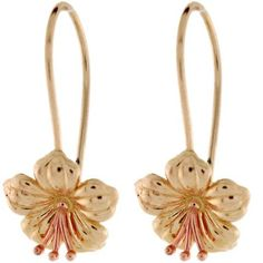 14k Two Tone Real Gold Hawaiian & Caribbean Hibiscus Flower Earring Jewelry Liquidation. $133.80. Made with Real 14k Gold!. Made in USA!. Save 74%!