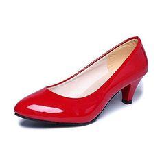 Oferta: 10.05€. Comprar Ofertas de Zapatos interiores, Amlaiworld Zapatos de tacón bajo de oficina (37, Rojo) barato. ¡Mira las ofertas!