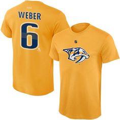 Shea Weber Nashville Predators Reebok Youth Player Name & Number T-Shirt - Gold - $13.99