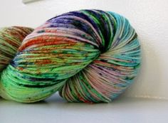 Hand dyed Sock Yarn Superwash Merino and Nylon   - Hero Squad. $23.00, via Etsy.