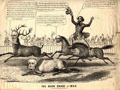 vintage election cartoons | Old Public Functionary – President James Buchanan, Jr.
