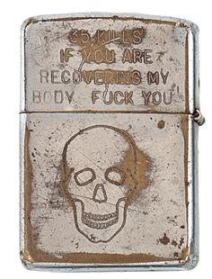 Custom Engraved Zippo lighter from Vietnam