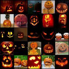 Pumpkin Carving. So many happy faces :)