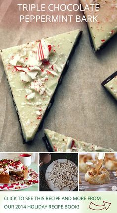 Triple Chocolate Peppermint Bark by @threadedbasil, and other holiday recipes from influencers on Pinterest!