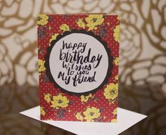 Set of four greeting cards. Birthday card. Thank by pumpkinpoptart