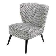 Sessel aus Samt und schwarzem Birkenholz | Maisons du Monde