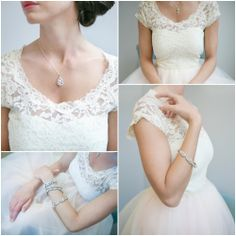 Lace Neckline Gown~I think this is much more your style and it won't be dragging through the grass & dirt! :D