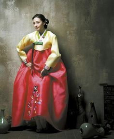 """melody-of-seoul: """" Hanbok is traditional Korean dress.Women's hanbok consists of (chima) skirt and(jeogori) shirt.Isn't this pretty ? """""""