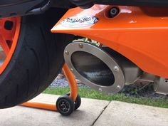 ktm rc8 exhaust track legal 97db