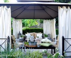 Outdoor Cabana bring a beach cabana to the backyard for the ultimate lounging