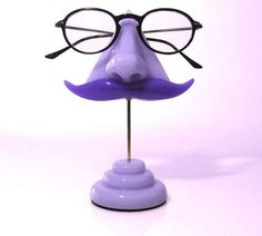 Keep Eyewear Organized on a Funky Nose Glasses Display trendhunter.com