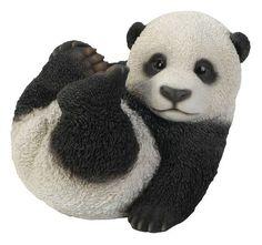 Hi Line Gift Ltd. Baby Panda Playing Garden Statue   87768 B