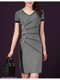 e616295af7 V-Neck Plain Bodycon Dress - berrylook.com Cheap Dresses, Cheap Fashion,
