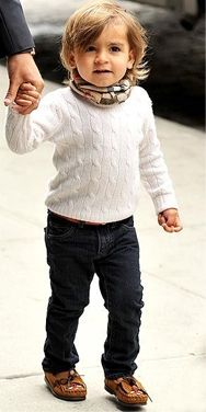 Mason Disick The second Kardashian offspring to make the list, Mason has no problem keeping up (ahem) with his stylin' parents. We mean, just look at that hair. It's not every day you see a 5-year-old boy strolling the streets in a white cable-knit sweater and a Burberry scarf.