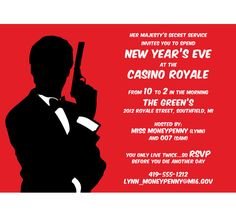 Casino Royale Invitation / A casino royale invitation that's for your eyes only.