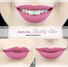 Unikátny odtieň Shabby Chic tekutého matného rúžu Matte Me od anglickej značky Sleek MakeUP <3