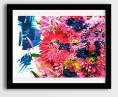 abstract pink flowers living room wall art decor, art photography prints, large canvas photo, chrysanthemum art, abstract floral nursery art