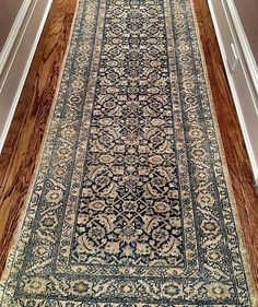 Hallway Runner 14' Tabriz c.1900 #rare #Persian #rug #interiordesign #decorator #home