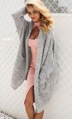 Casual Knitting Long Cardigan Plus Size Cardigan Plus Size, Plus Size Cardigans, Chunky Knit Cardigan, Plus Size Coats, Long Cardigan, Cardigans For Women, Mustard Cardigan, Winter Cardigan, Sweater Coats