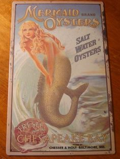 Mermaid Oysters Tropical Beach Island Tiki Bar Seafood Restaurant Decor Sign New   eBay
