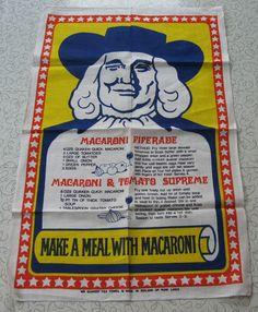 Quaker advertising linen tea towel.